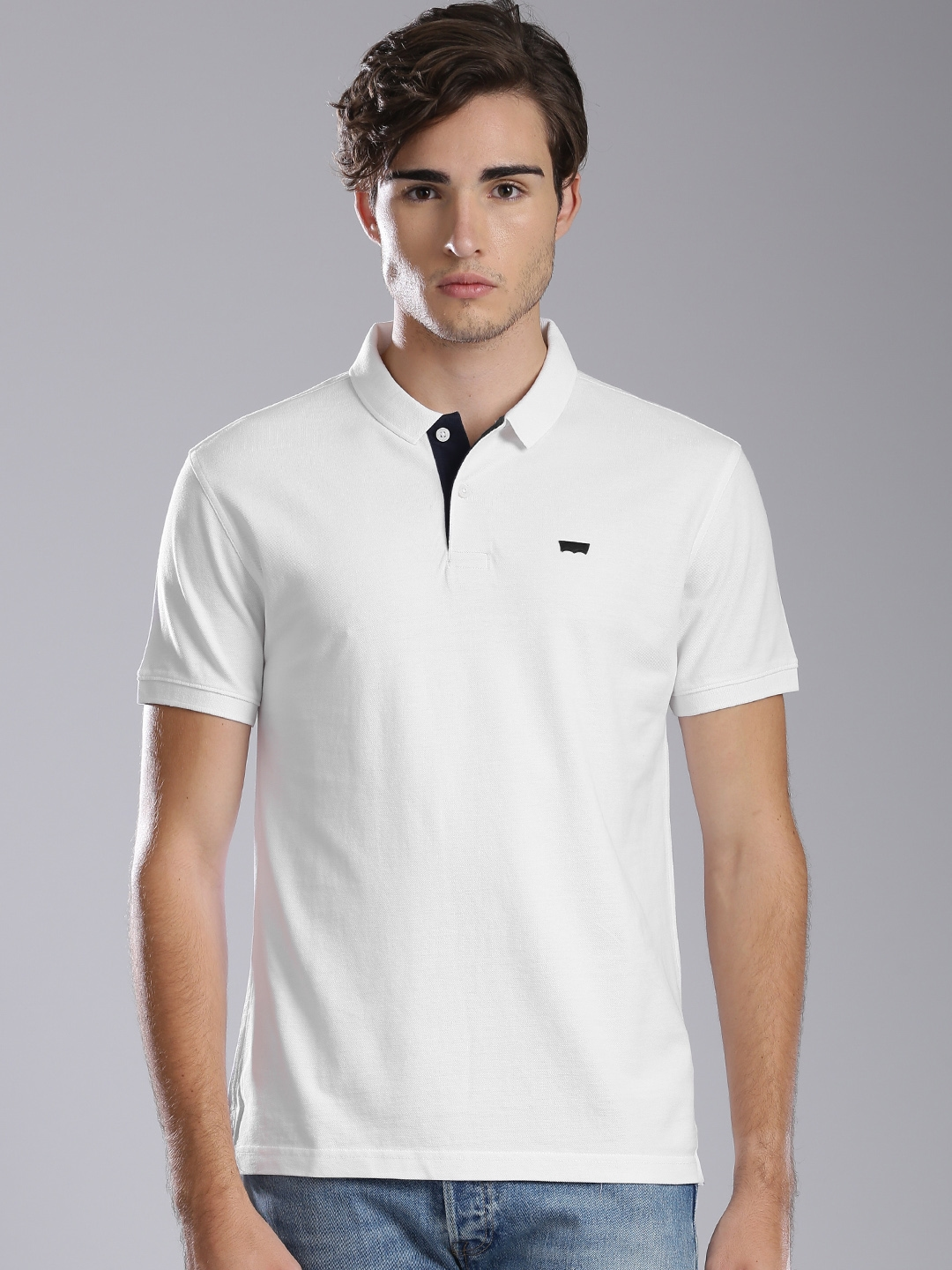 ab2835b2 Buy Levis Men White Solid Polo T Shirt - Tshirts for Men 1833029 ...