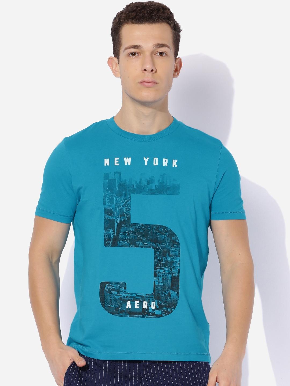 Buy Aeropostale Men Blue Printed T Shirt Tshirts For Men Myntra