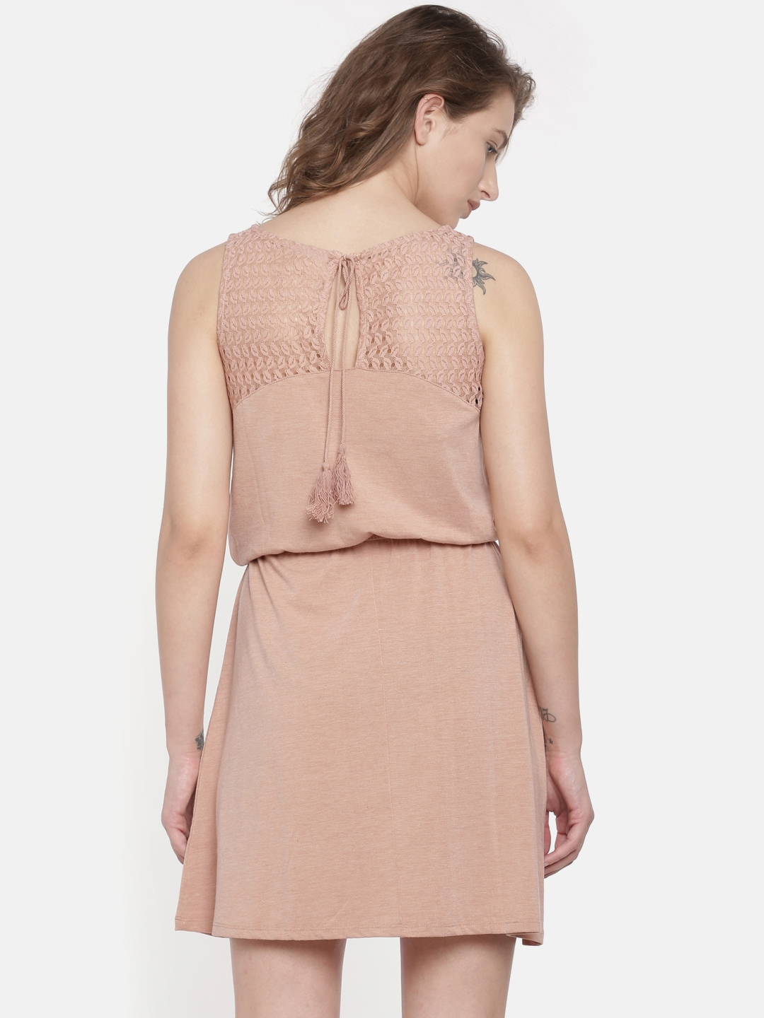 Buy Vero Moda Women Brown Solid Fit And Flare Dress - Dresses for ... b73b9ea64e73