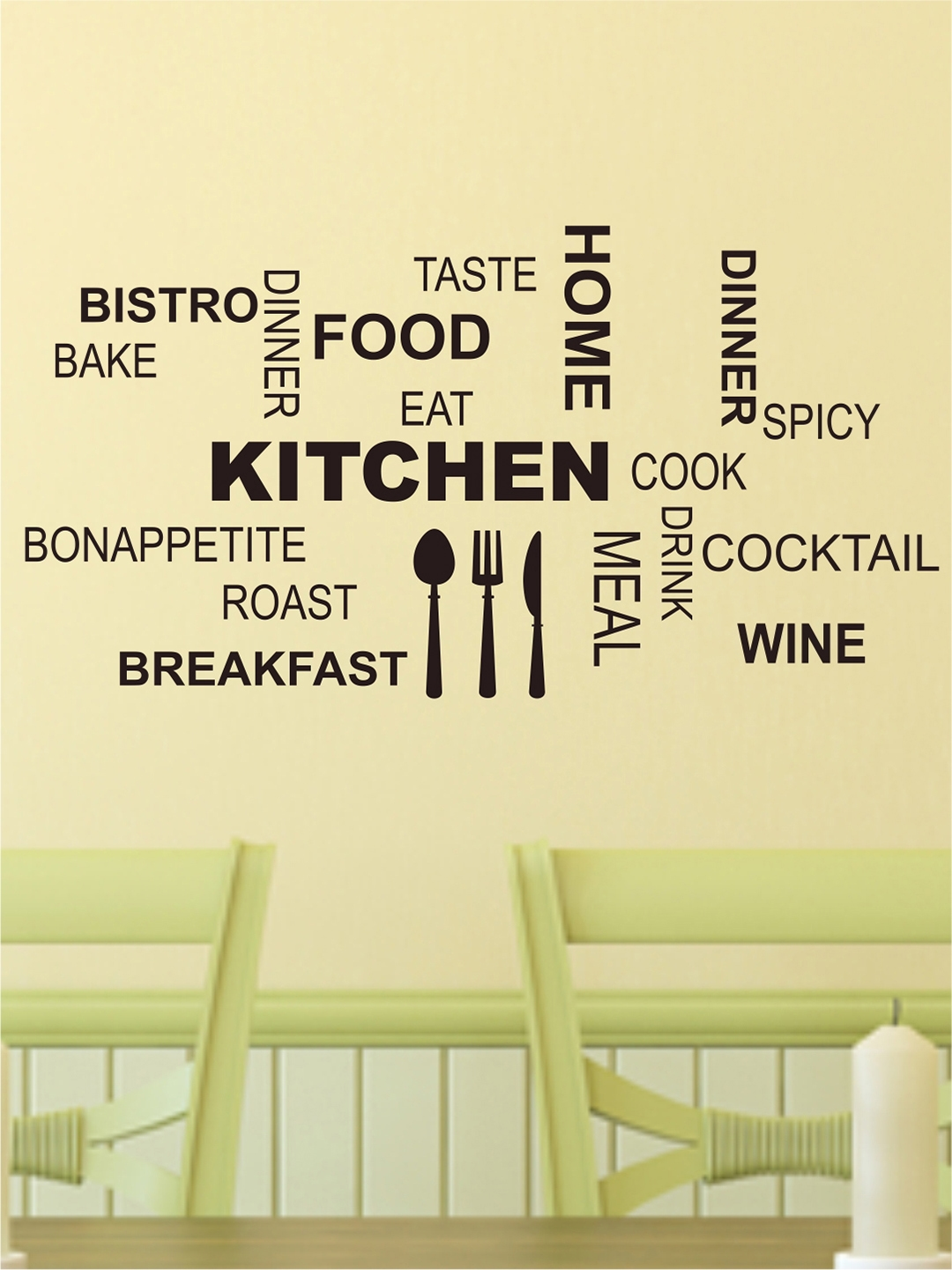 Buy Aspire Black Kitchen Quotes Wall Sticker - Decals And Stickers ...