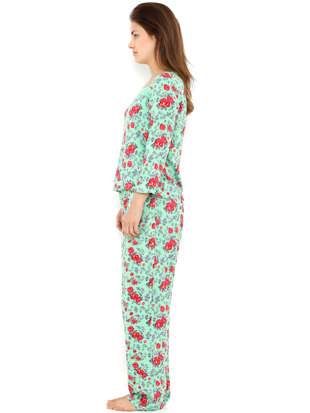 73ab20eca17 Buy Heart 2 Heart Green   Red Printed Night Suit LSPJ83WNTRG - Night ...
