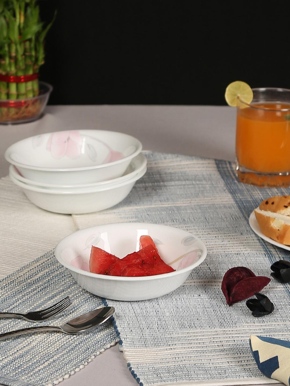 Corelle Asia Elegant City White Set of 2 Printed 1 litre Glass Serving Bowl