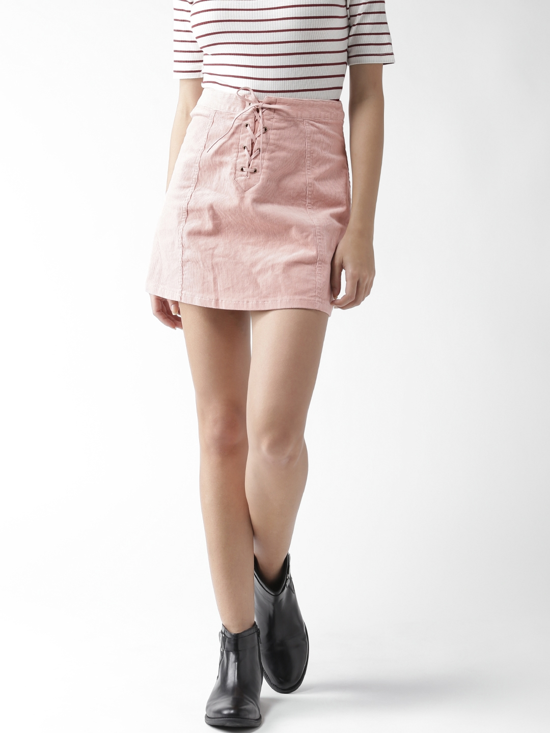 657a87c2e Buy FOREVER 21 Dusty Pink Corduroy Mini A Line Skirt - Skirts for ...