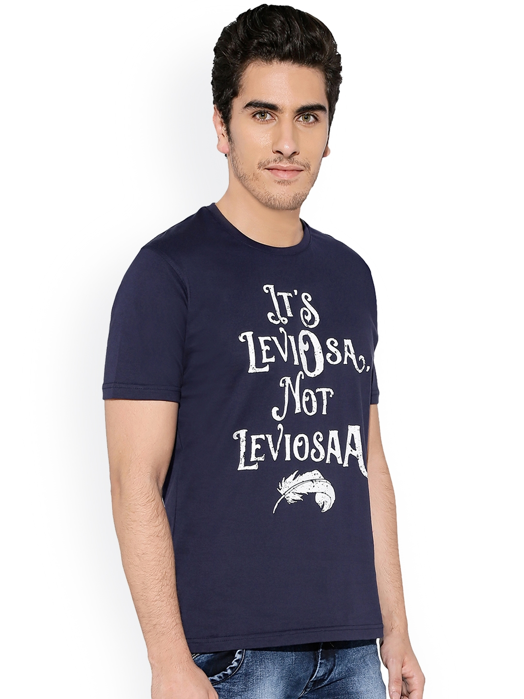 a4f382ab Buy The Souled Store Unisex Navy Blue Printed Round Neck Harry ...