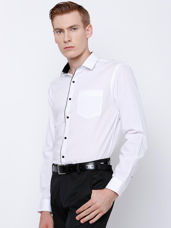0dd1dfd841 Buy Black Coffee Men White Slim Fit Formal Shirt - Shirts for Men ...