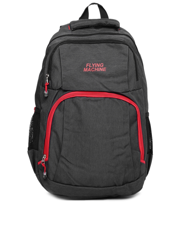 dbefca0763c3 Buy Flying Machine Unisex Charcoal Grey Laptop Backpack - Backpacks ...