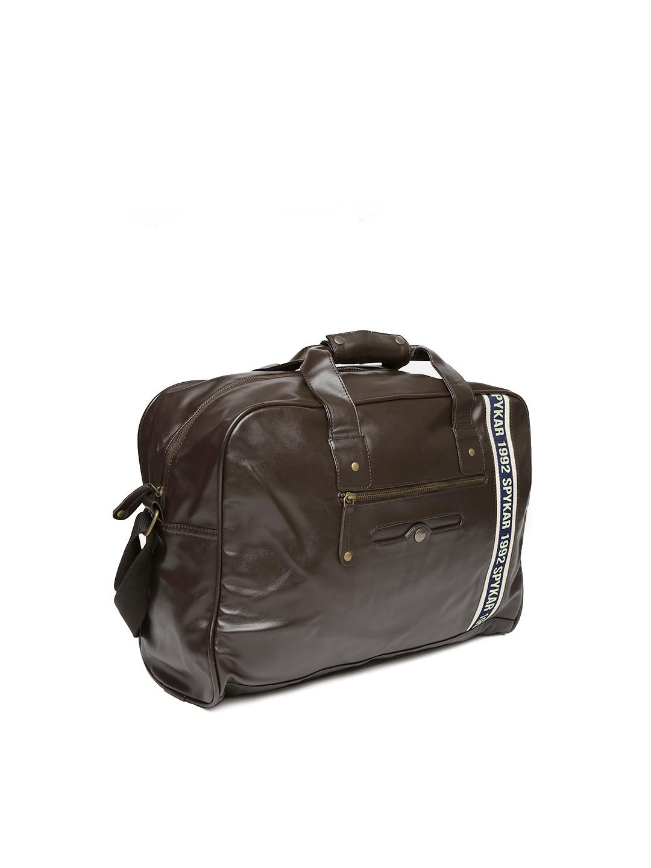 5be605f2c8 Buy SPYKAR Men Brown Laptop Bag With Shoulder Strap - Laptop Bag for ...