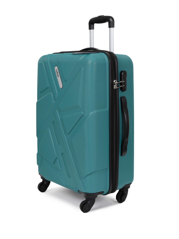 3d1e143f62 Safari Unisex Teal Green Traffik Anti-Scratch Large Trolley Suitcase
