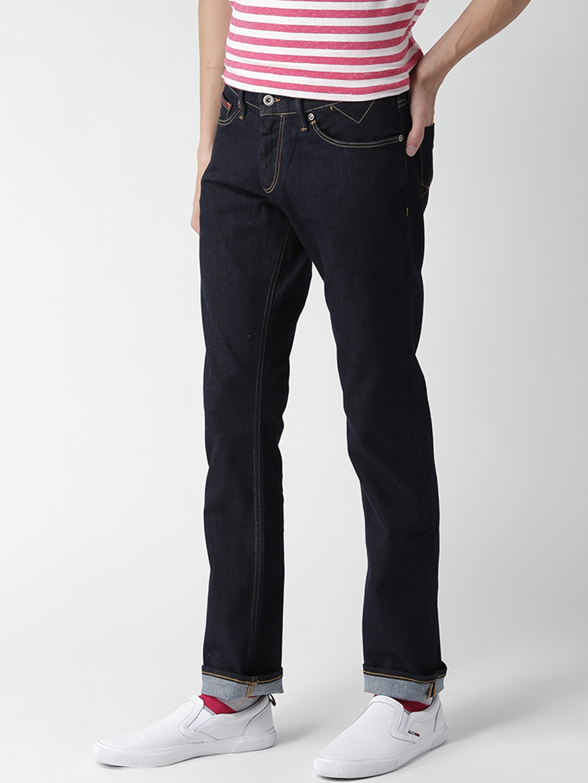 e3dc9951 Buy Tommy Hilfiger Men Navy Blue Slim Scanton Fit Stretchable Jeans ...