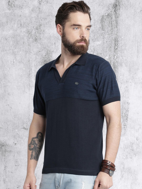 0fcbb57d8c4 Buy Roadster Men Navy Polo T Shirt - Tshirts for Men