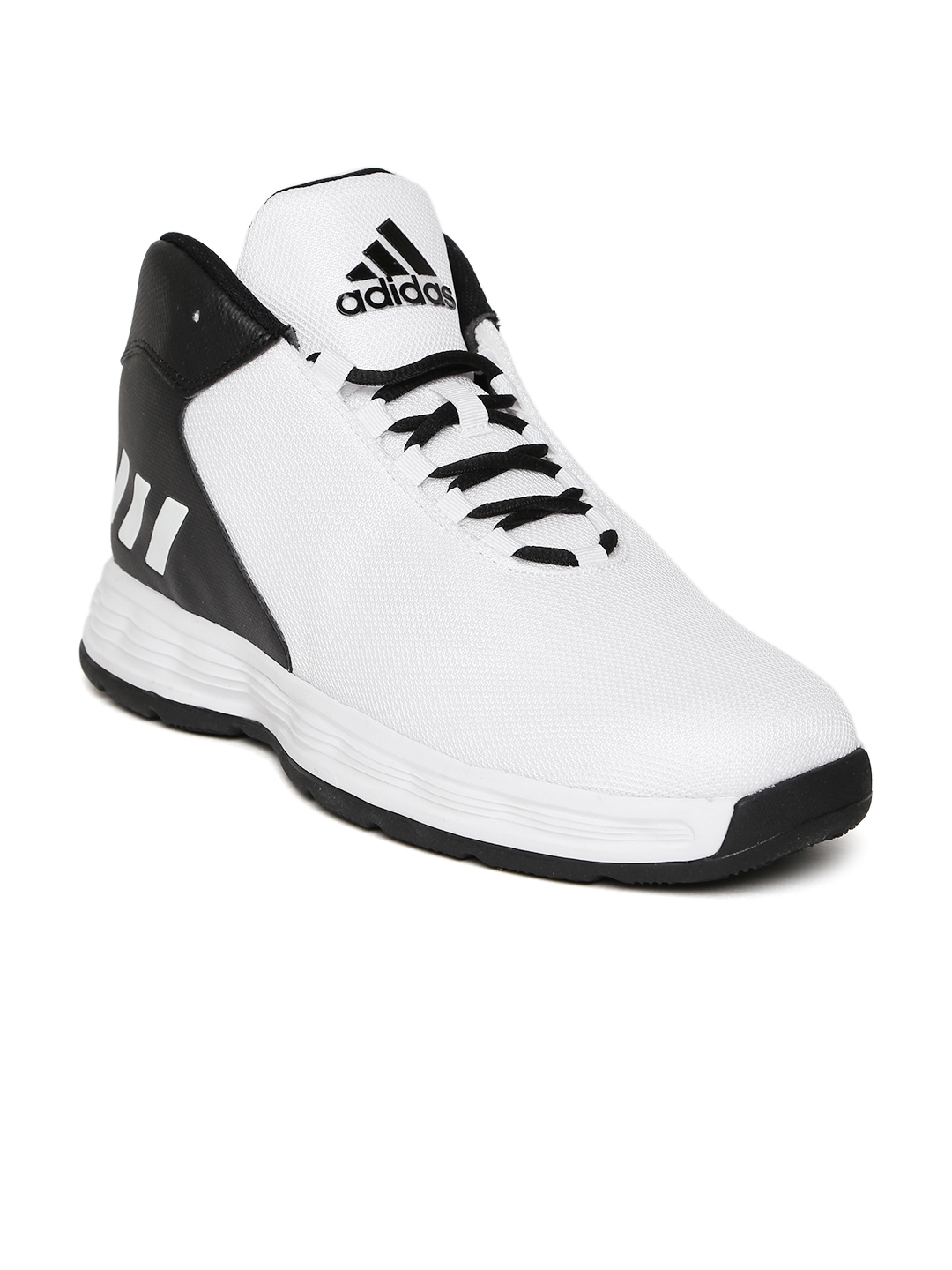 adidas basketball shoes. adidas men white \u0026 black hoopsta colourblocked basketball shoes s