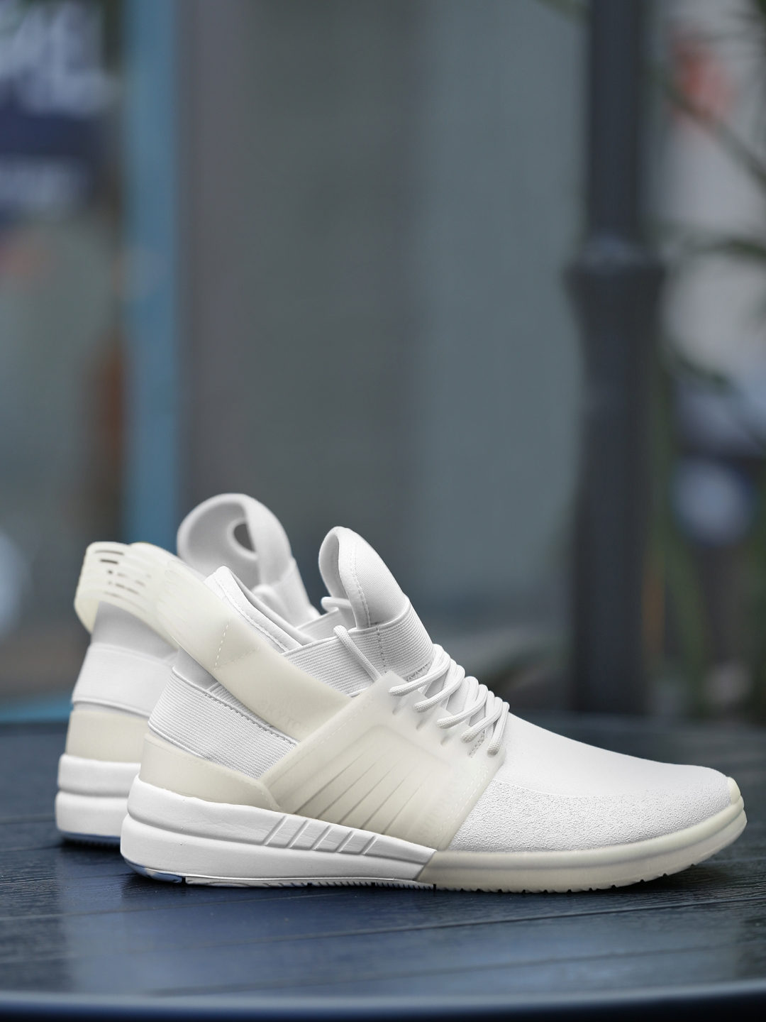 d72a1b2b5ed5 Buy Supra Men White Solid Skytop V Mid Top Sneakers - Casual Shoes ...