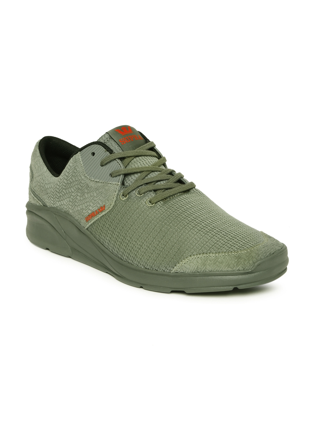c577ba8cc448 Buy Supra Men Olive Green NOIZ Leather Sneakers - Casual Shoes for ...