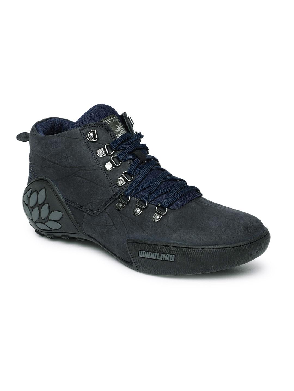woodland shoes black leather