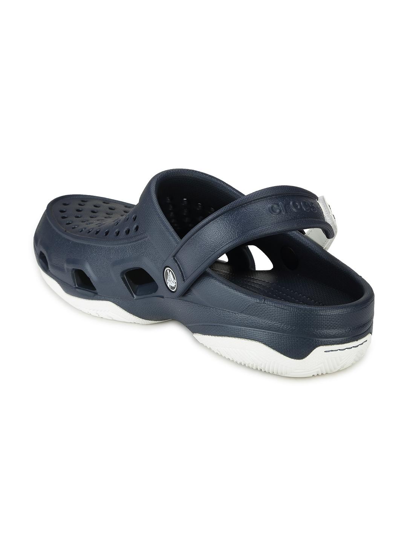 064983307340da Buy Crocs Men Navy Swiftwater Deck Clogs - Flip Flops for Men ...