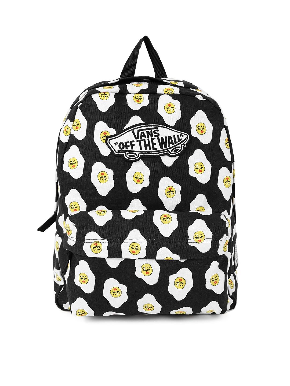 f9e8919b57 Buy Vans Women Black   White Printed Backpack - Backpacks for Women 1869741