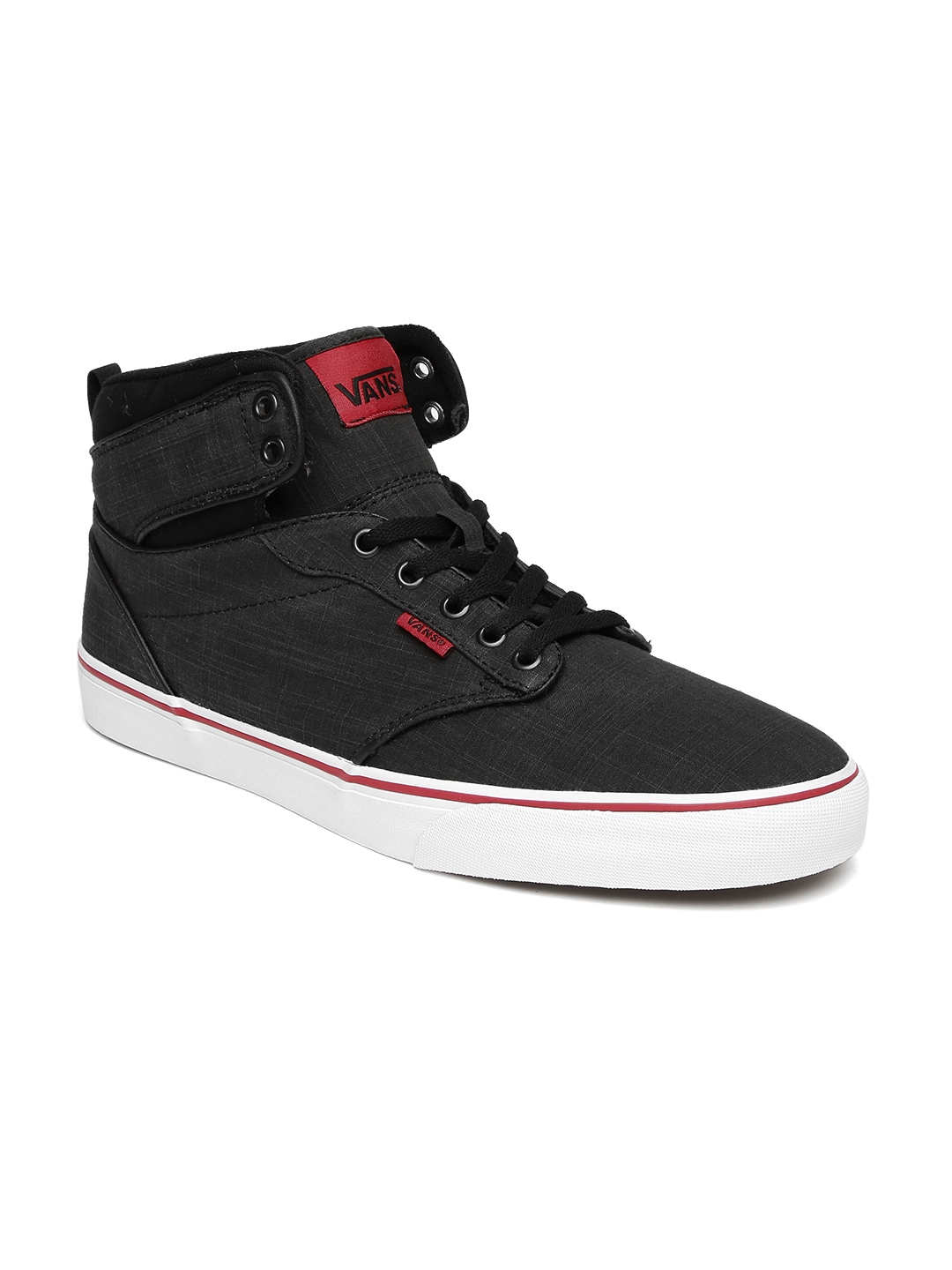 f93ae465ad Buy Vans Men Black ATWOOD HI Mid Top Sneakers - Casual Shoes for Men ...