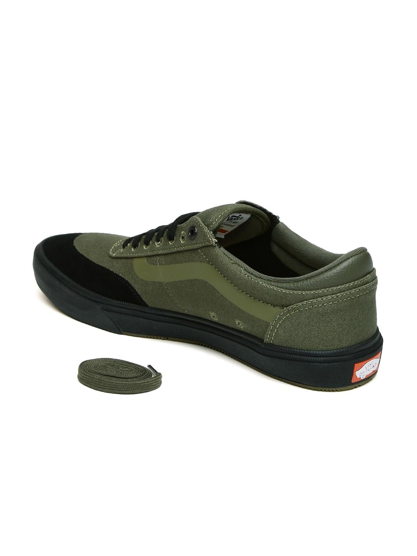 15989cfa27 Buy Vans Men Olive Green Gilbert Crockett 2 Pro Skate Shoes - Casual ...