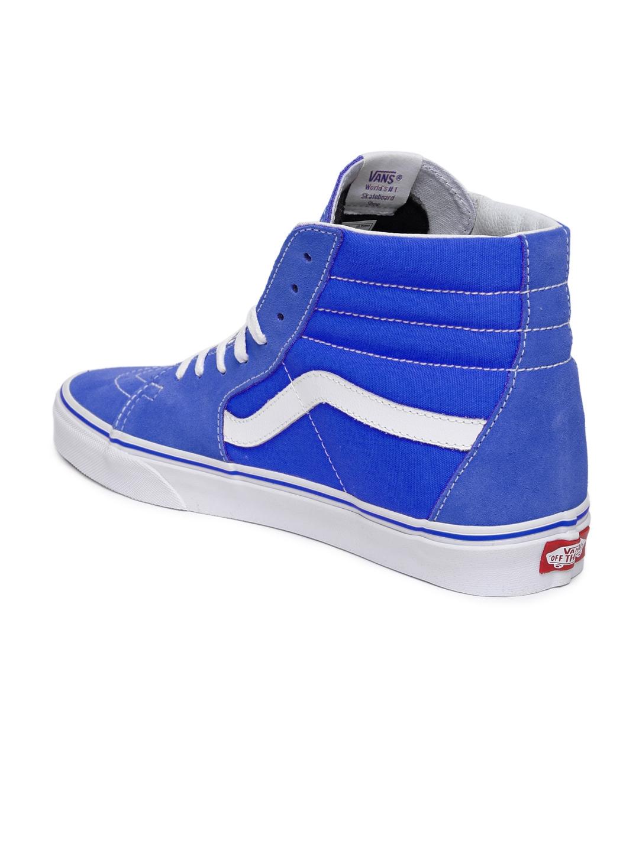 2ce34df72e3 Buy Vans Unisex Blue Solid High Top Suede Skate Shoes - Casual Shoes ...