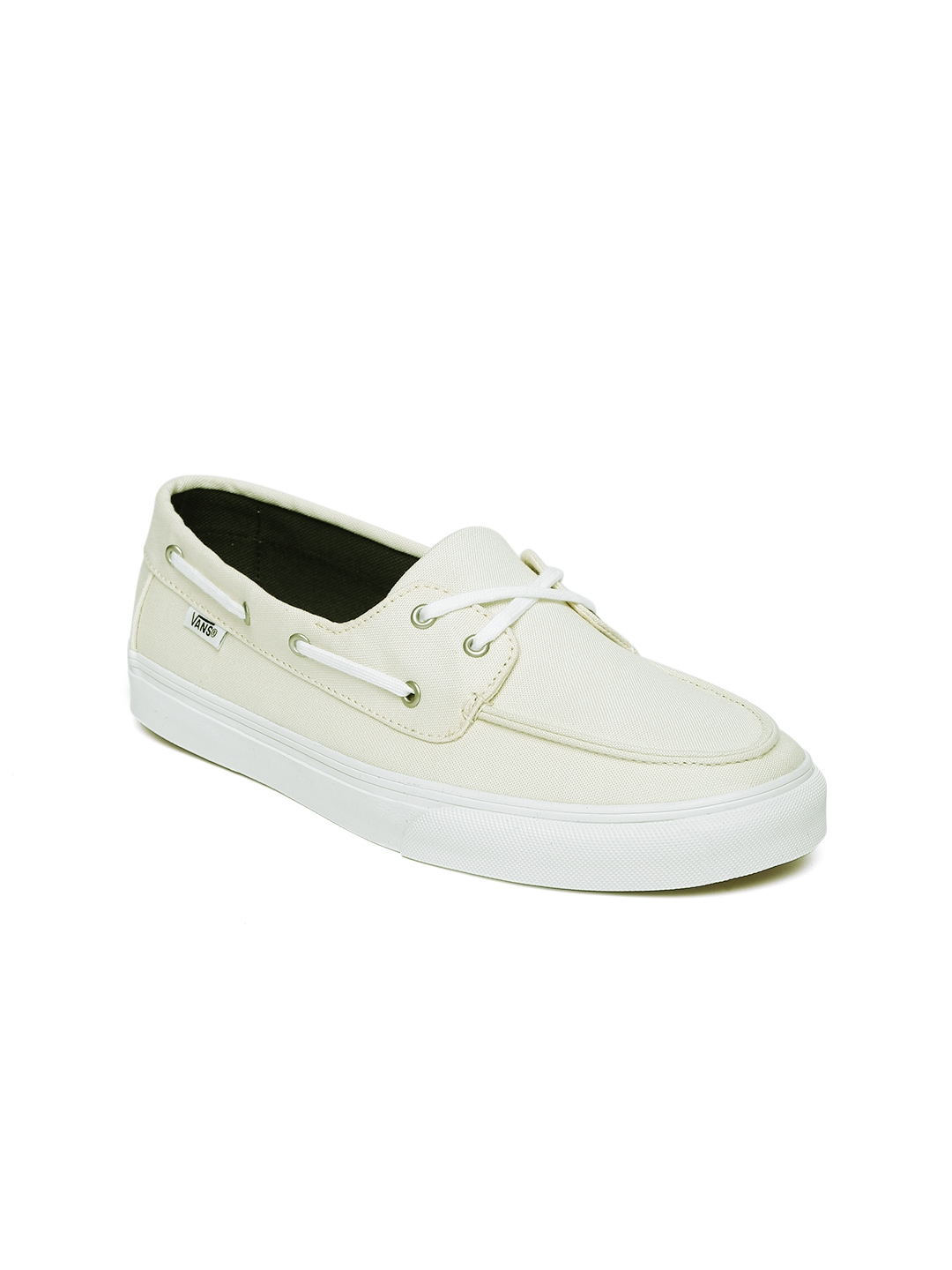 72e11083f2b3 Buy Vans Women Cream Coloured Boat Shoes - Casual Shoes for Women ...