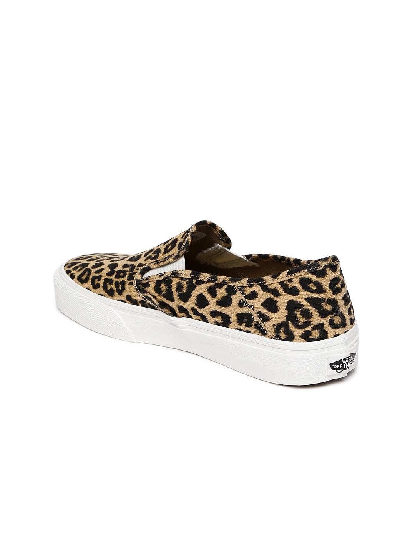 01921c700da Buy Vans Women Beige   Black Animal Print Slip On Sneakers - Casual ...