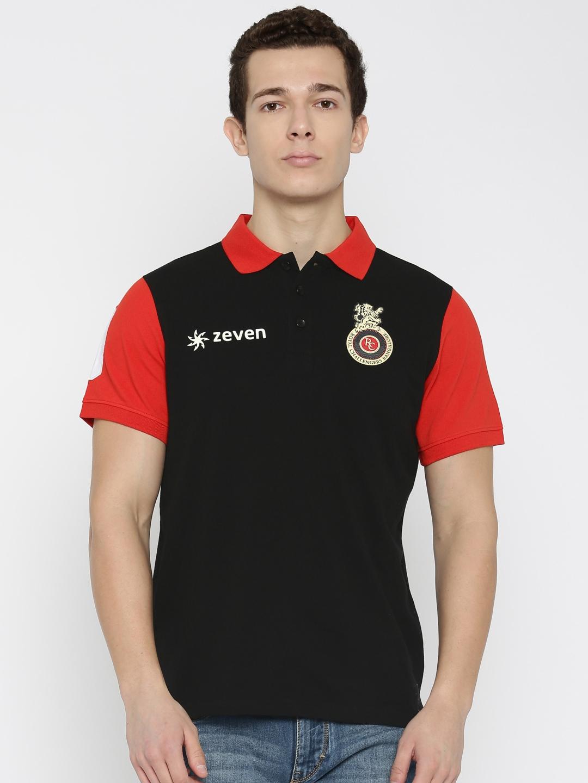 d9de50a0cc2 Buy Zeven Men Black RCB Royal Challengers Bangalore T Shirt ...