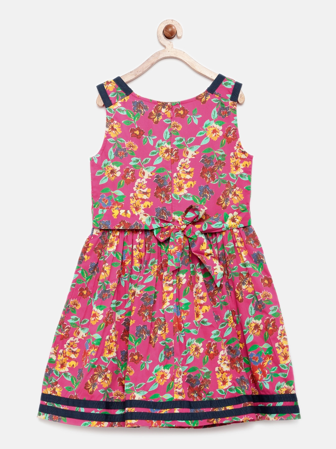 b0a9bc484d09a Buy U.S. Polo Assn. Kids Girls Pink Printed Fit And Flare Dress ...