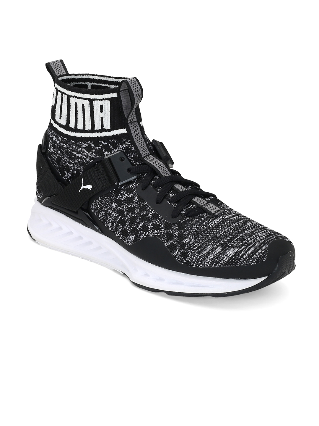 puma high tops womens. puma women black ignite evoknit high-top sports shoes high tops womens