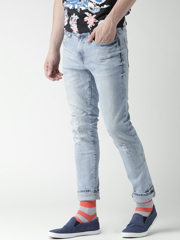 c75784295d3 Buy Aeropostale Men Blue Super Skinny Fit Mid Rise Mildly Distressed ...
