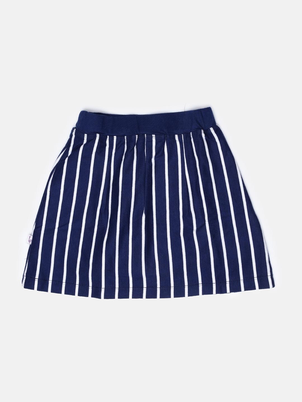 09ccea81e9 Buy Lil Orchids Girls Navy & White Striped Skort - Skirts for Girls ...