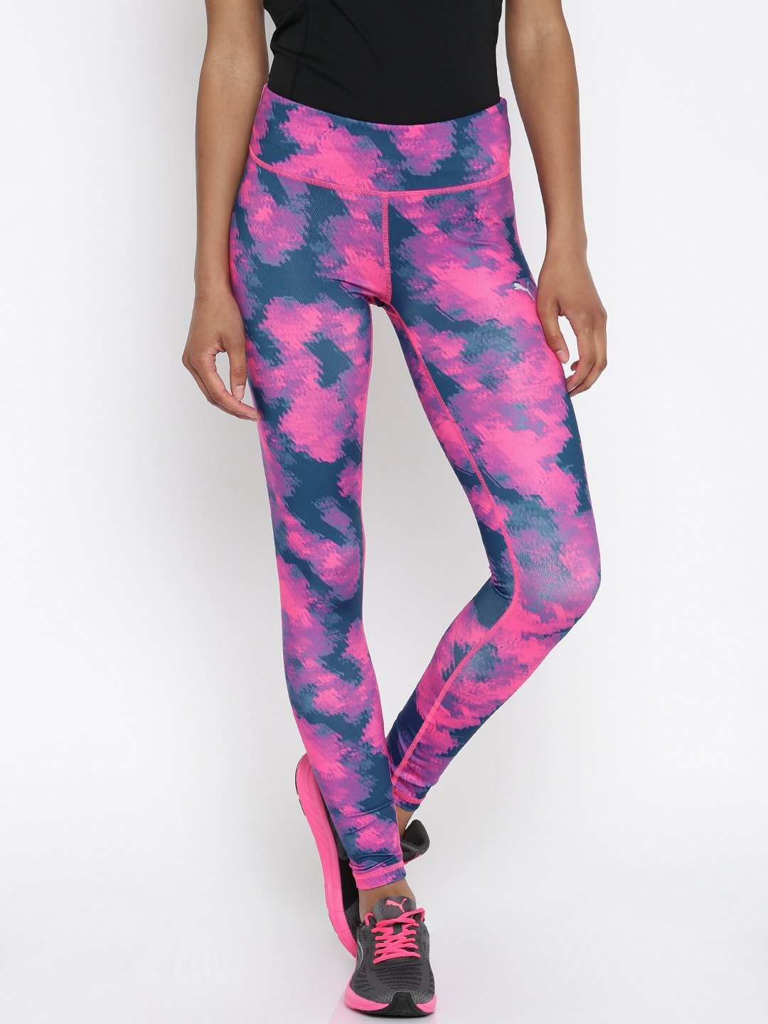 07dcacff244372 Buy Puma Blue & Pink All Eyes On Me Printed Tights - Tights for ...