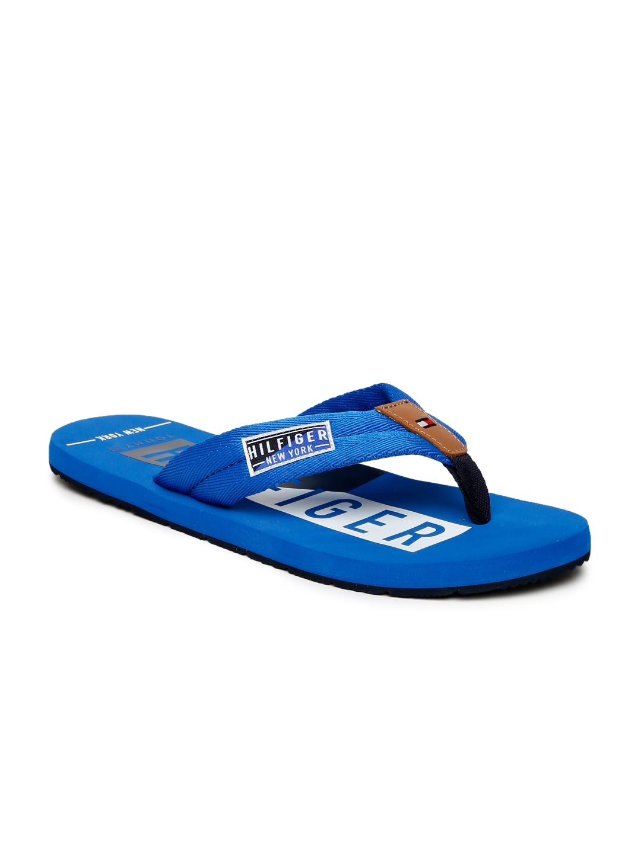 c98e4fd3eb5b8d Buy Tommy Hilfiger Men Blue Printed Flip Flops - Flip Flops for Men ...