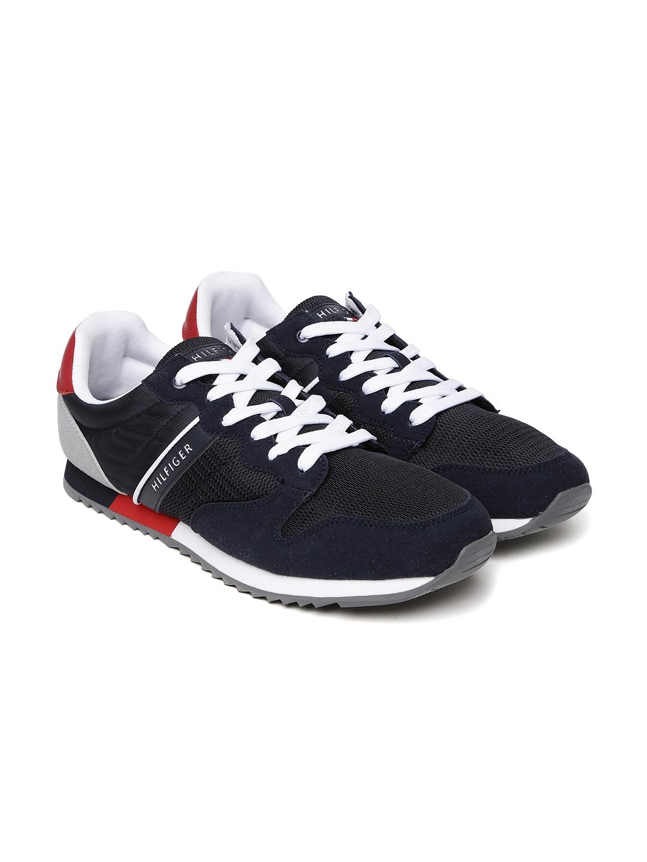 9d157cf358e7b2 Buy Tommy Hilfiger Men Navy Blue Colourblocked Sneakers - Casual ...