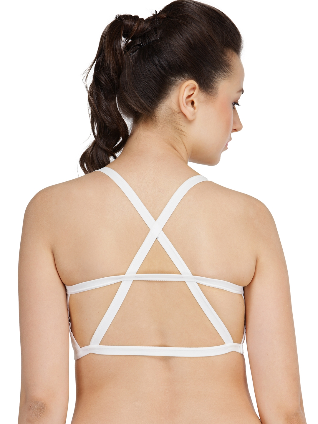24341ed13a86d Buy N Gal White Non Wired Full Coverage Lightly Padded Bralette ...