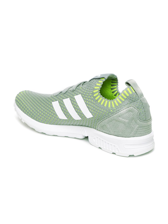 748c4250e Buy ADIDAS Originals Men Grey ZX FLUX Prime Knit Sneakers - Casual ...