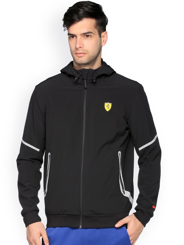 3e36eb9ee2bb Buy Puma Ferrari Men Black SF Softshell Hooded Lightweight Jacket ...