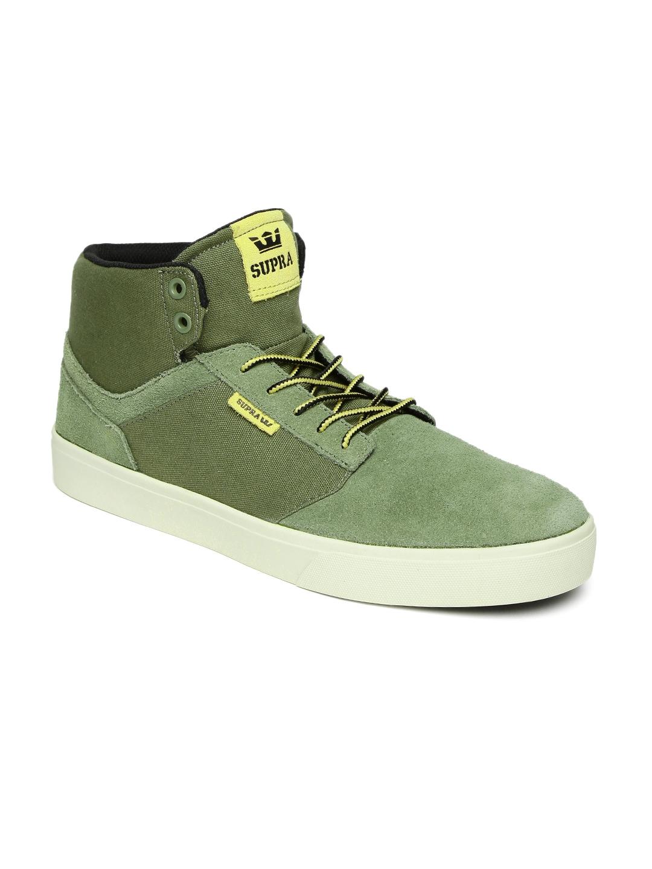 Buy Supra Men Olive Green Yorek High