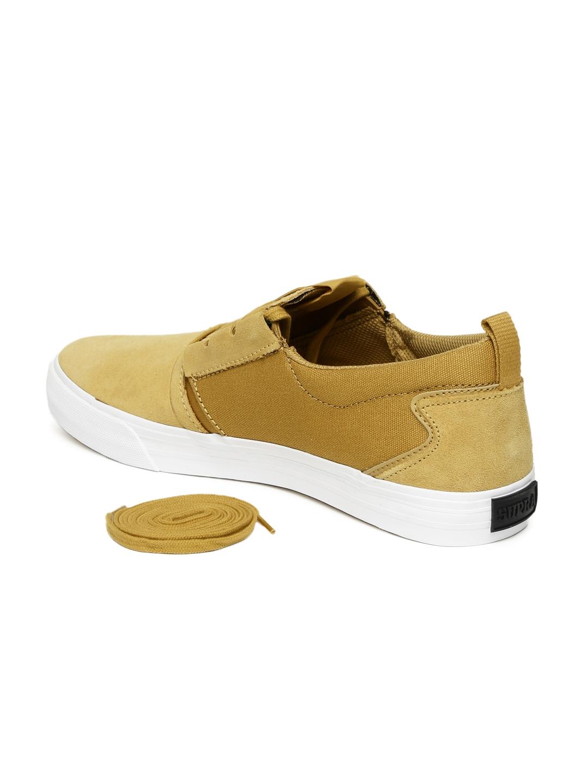 48a2ae405f35 Buy Supra Men Mustard Yellow Sneakers - Casual Shoes for Men 1888494 ...