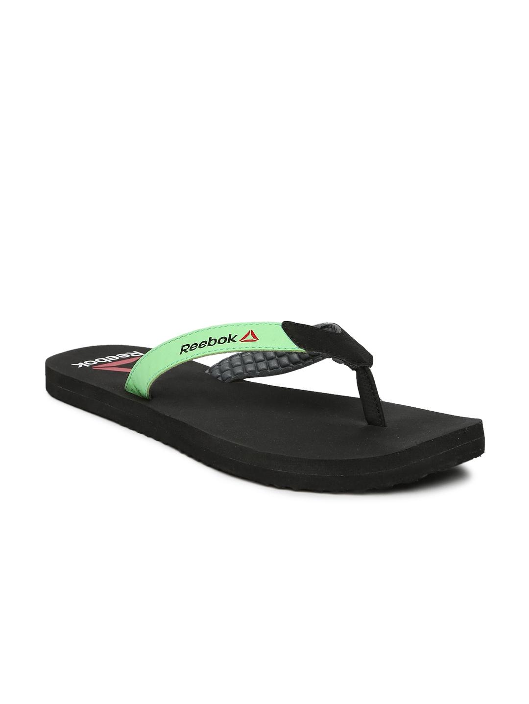 93993bd71 Buy Reebok Women Black   Green Core Flip Flops - Flip Flops for ...