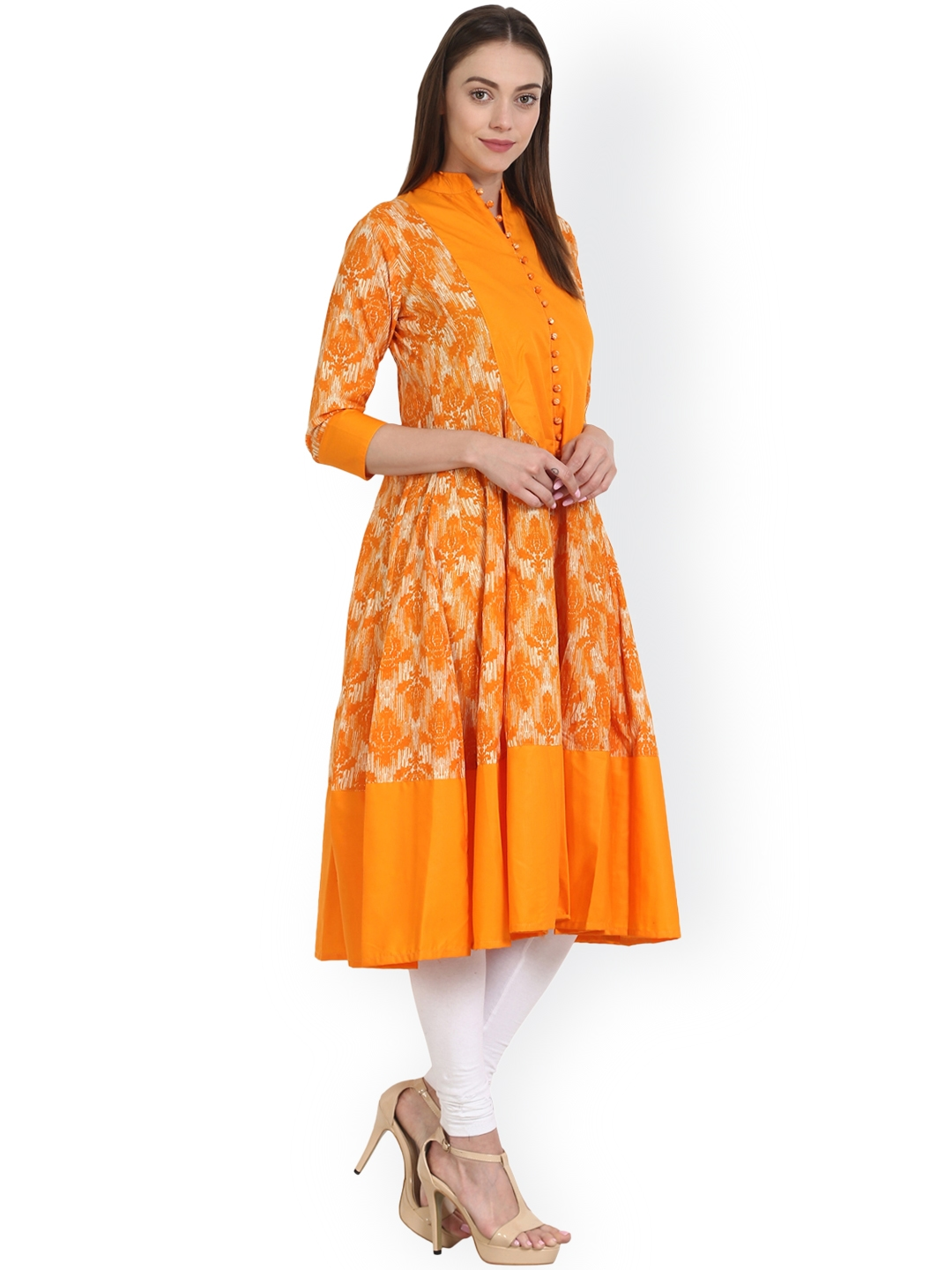 7ecaaebb3 Buy Nayo Women Yellow Printed Anarkali Kurta - Kurtas for Women