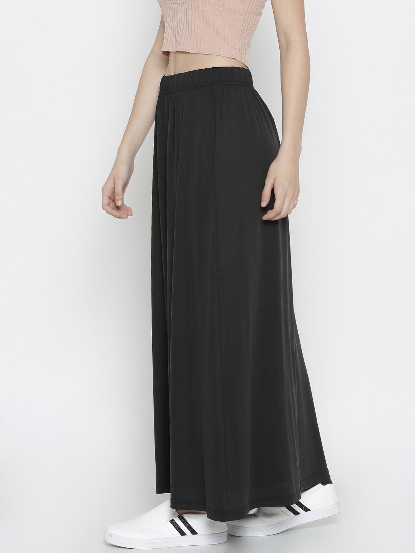 99b67ff054 Buy Vero Moda Black Maxi Skirt - Skirts for Women 1892690 | Myntra