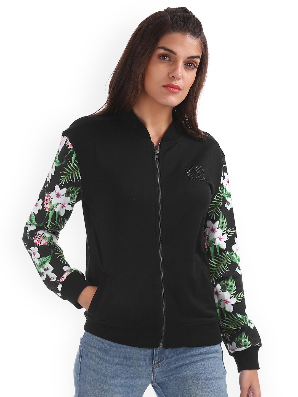 Ed Hardy Women Black Printed Sweatshirt