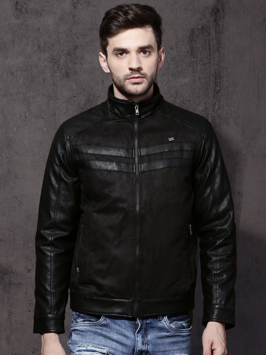 Incubo tempo di sosta Formazione  Buy Roadster Men Black Solid Padded Jacket - Jackets for Men 1894551 |  Myntra