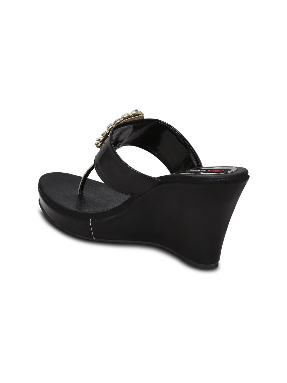 0d4edc120024 Buy Get Glamr Women Black Embellished Wedges - Heels for Women ...