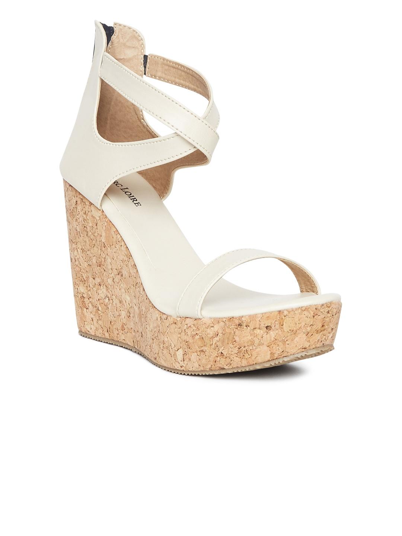 9538b35c6 Buy Marc Loire Women Cream Coloured Solid Wedges - Heels for Women ...