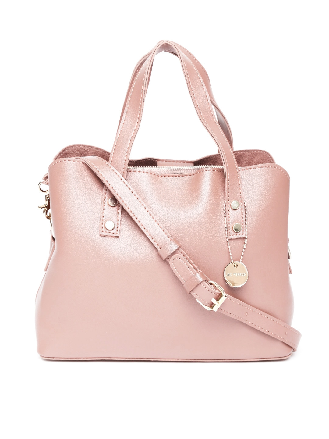 298720421521 Buy Lisa Haydon For Lino Perros Pink Solid Handheld Bag With Sling ...