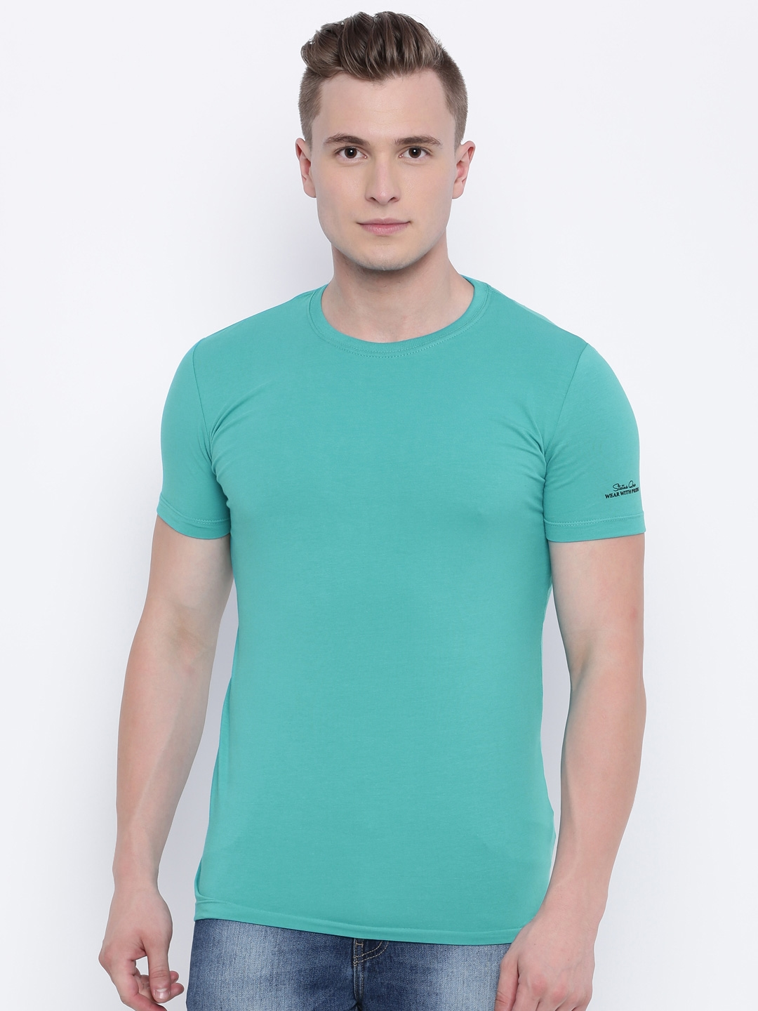 a89ca3b160f12e Buy Status Quo Turquoise Blue T Shirt - Tshirts for Men 1909134