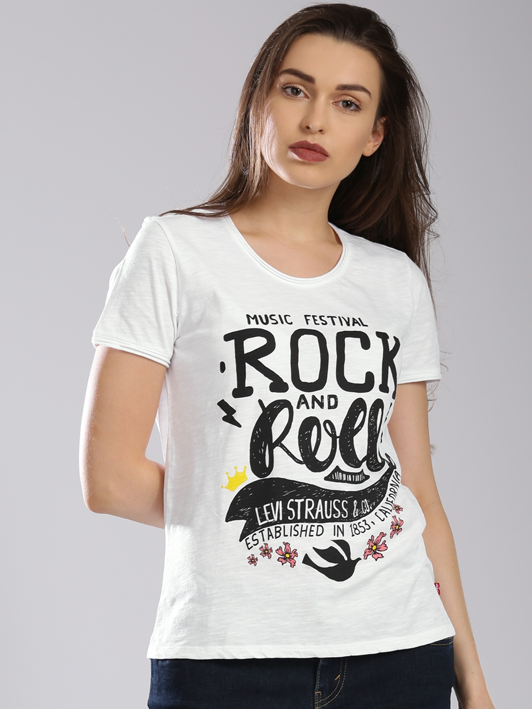 d99a89f18f0 Buy Levis White Printed T Shirt - Tshirts for Women