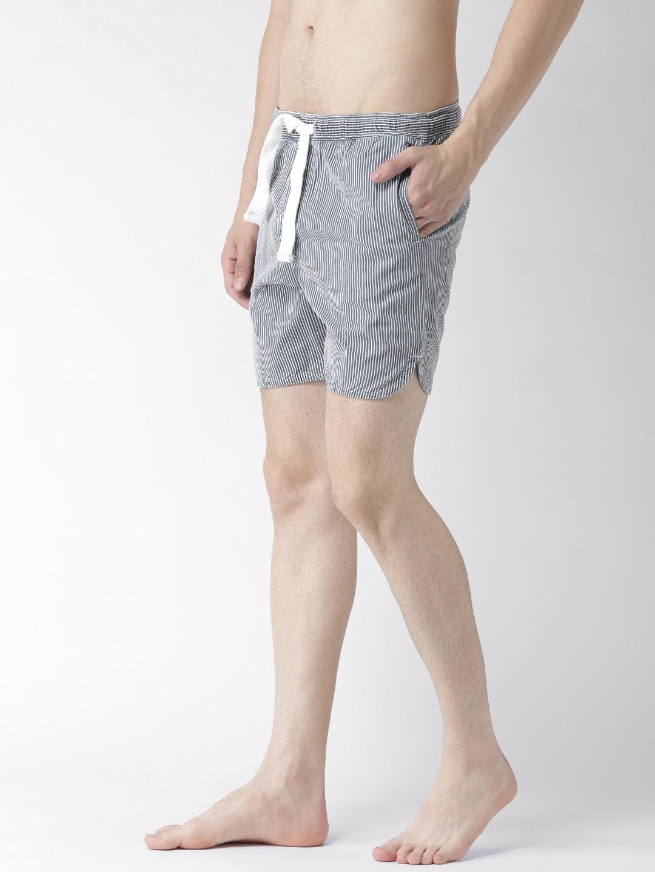 2800efe938 Buy Tommy Hilfiger Blue Striped Slim Swim Shorts S7ATN106 - Swimwear ...