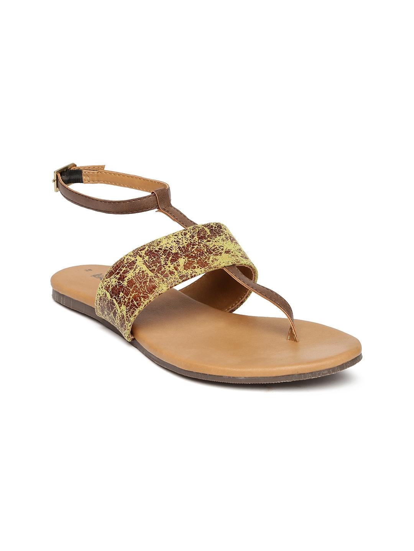fa3d19f3a7b9 Buy Lavie Women Brown T Strap Flats - Flats for Women